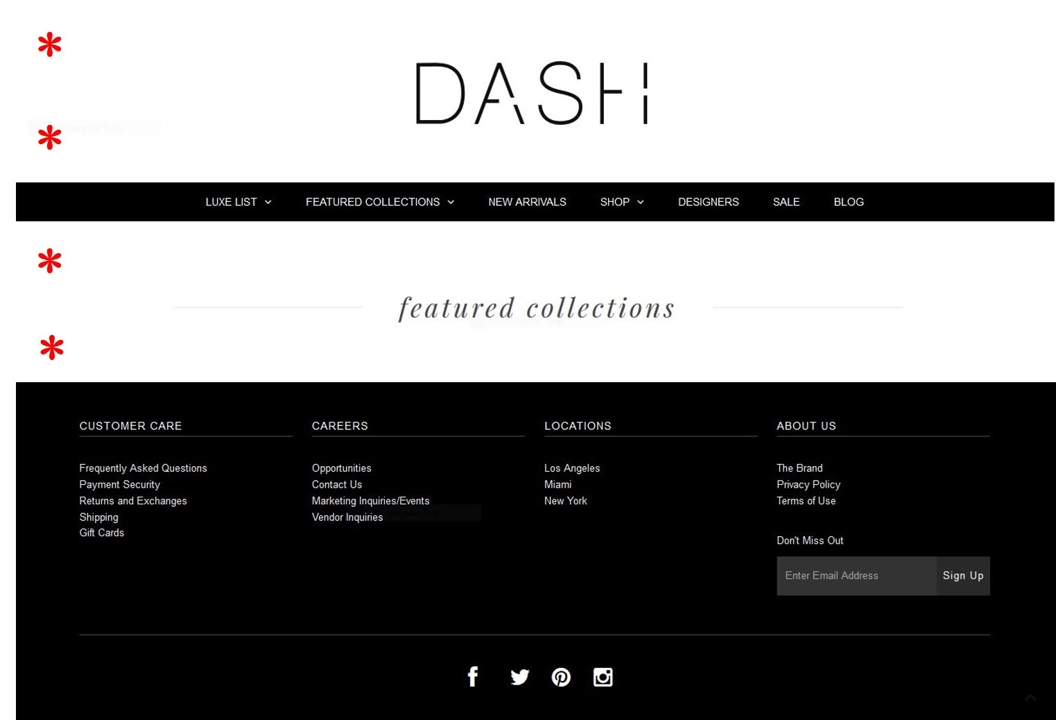 Typographical elements of DASH